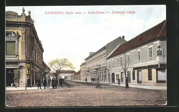 AK Pancsova, Deak utca, Strassenpartie 0
