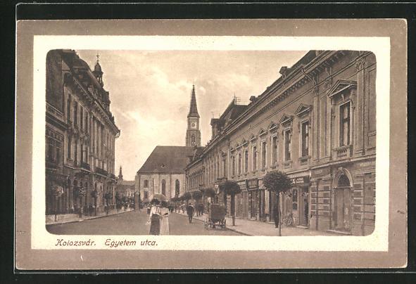 AK Kolozsvar, Egyetem utca, Strassenpartie 0