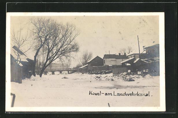 AK Kowel, Partie im Winter am Landwehrkanal 0