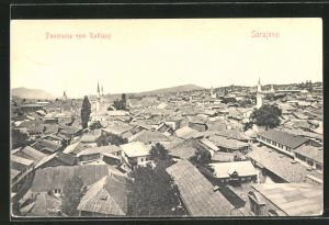 AK Sarajewo, Panorama vom Rathaus