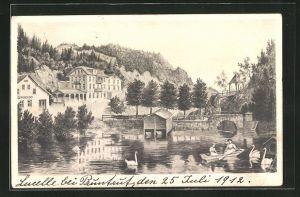 AK Lucelle, Kurhaus Lüzelhof au Lac de Lucelles