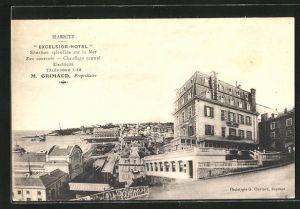 AK Biarritz, Excelsior-Hotel, Montage
