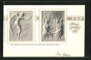 AK Plakette zur Erinnerung an die Aargauische Centenarfeier 1903