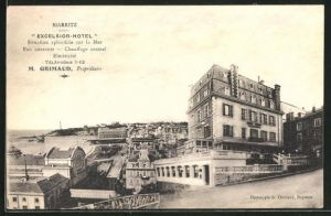 AK Biarritz, Ortspartie mit Excelsior Hotel