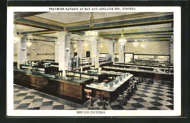 AK Toronto, Traymore Savarin at Bay and Adelaide Street, Service Counters