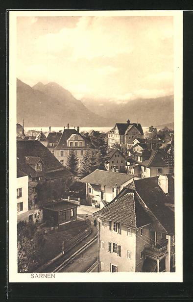 AK Sarnen, Blick über die Dächer der Stadt