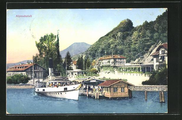 AK Alpnachstad, Ortspartie am Hafen