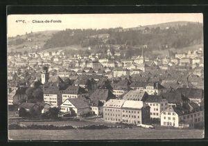 AK Chaux-de-Fonds, Ortsansicht mit Blick über die Häuser