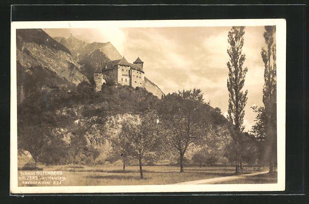 AK Balzers, Partie am Schloss Gutenberg