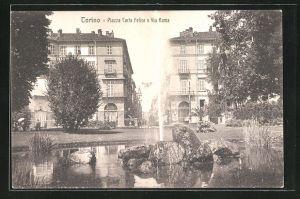 AK Torino, Piazza Carlo Felice e Via Roma