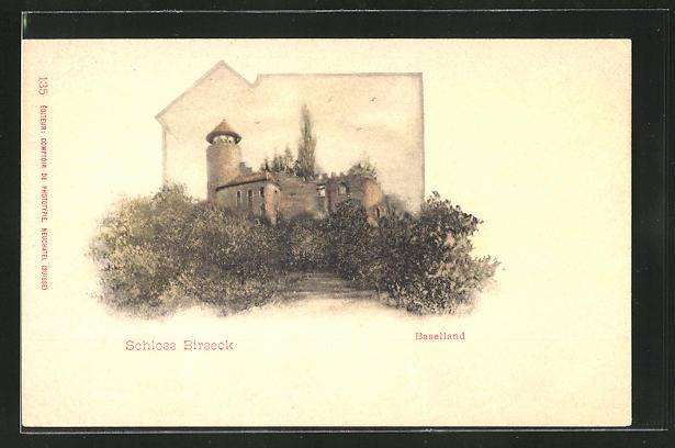 AK Arlesheim, Blick zum Schloss Birseck