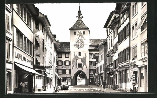 AK Liestal, Strassenpartie am Oberen Tor