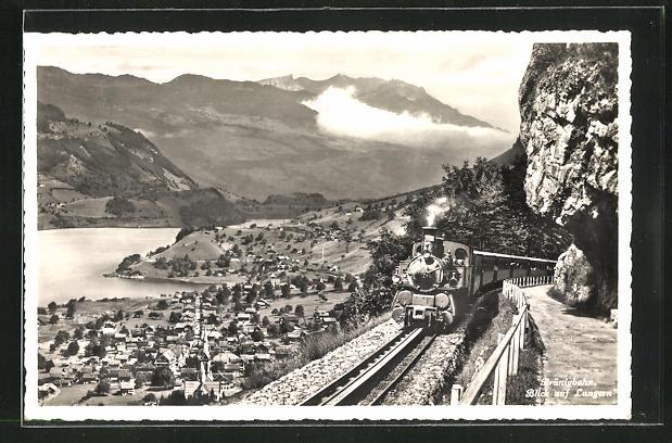 AK Lungern, Brüningbahn, Blick auf Lungern