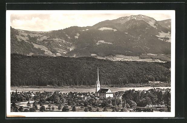 AK Alpnach-Dorf, Totalansicht aus der Vogelschau