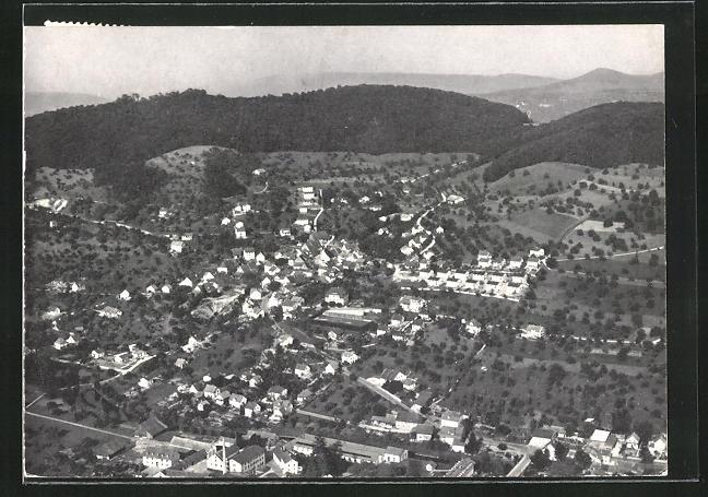 AK Füllinsdorf, Totalansicht, Luftaufnahme