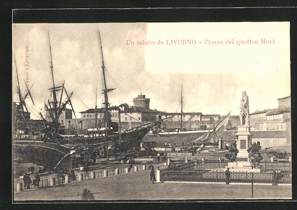 AK Livorno, Piazza dei quattro Mori