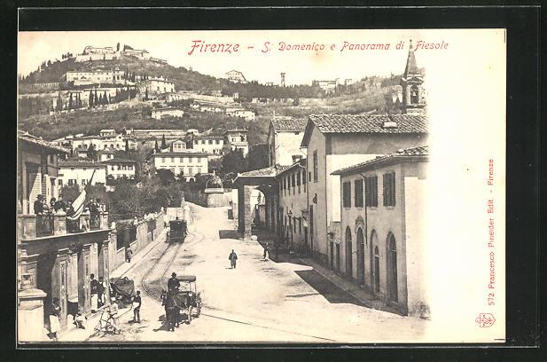AK Fiesole, S. Domenico e Panorama