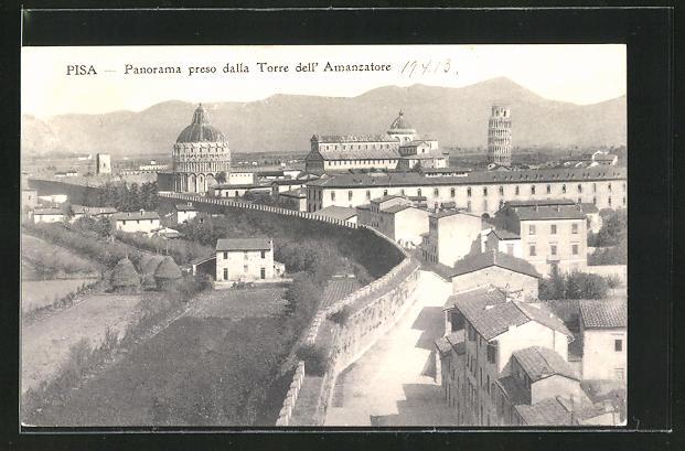 AK Pisa, Panorama preso dalla Torre dell'Amanzatore