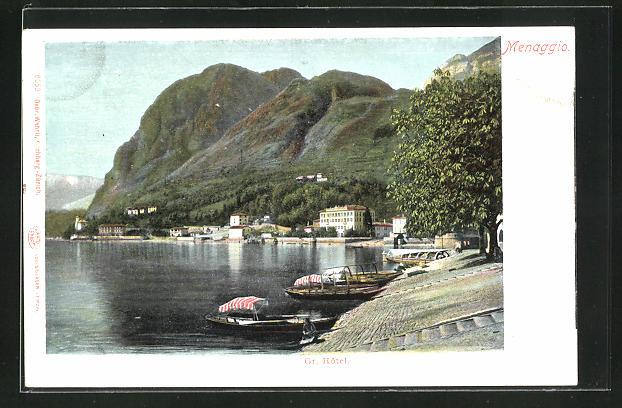 AK Menaggio, Uferpartie mit Grand Hotel