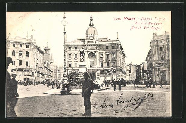 AK Milano, Piazza Elittica, Via dei Mercaeti
