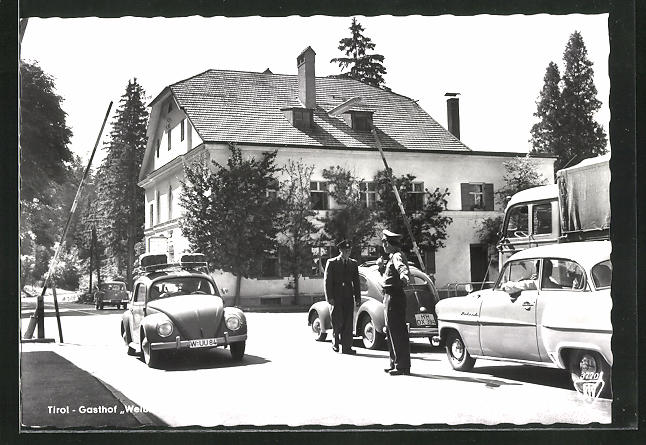AK Pinswang, Gasthof Weisshaus und Strassenzollamt