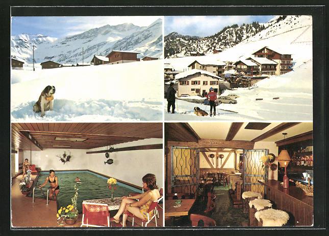 AK Triesenberg, Hotel Turna Malbun, Ortspartien im Winter