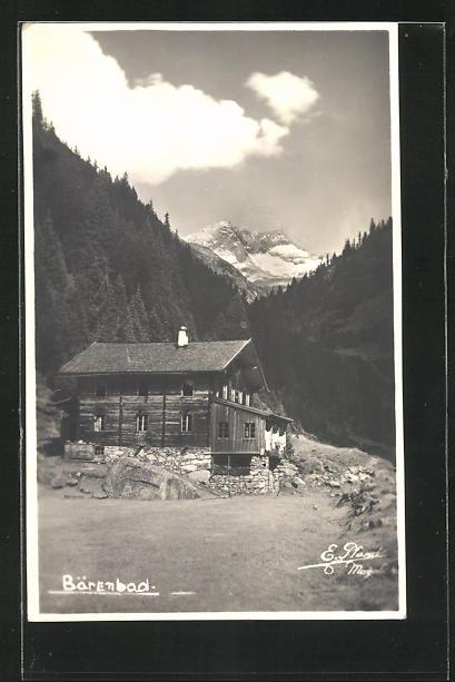 AK Zillergrund, Bärenbad mit Bergen