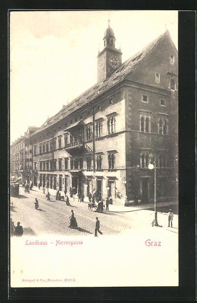 AK Graz, Landhaus, Herrengasse