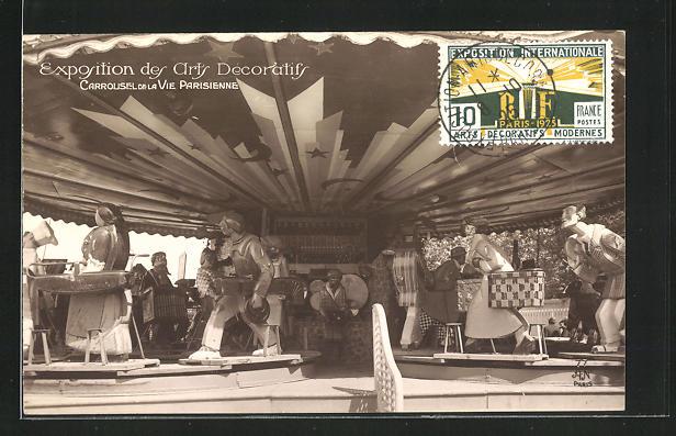 AK Paris, Exposition des Arts Decoratifs 1925, Carrousel de la Vie Parisienne