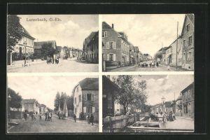 AK Lutterbach, vier Motive aus dem Ort