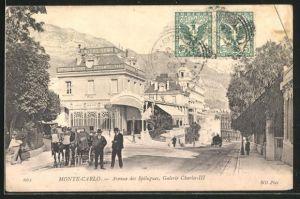 AK Monte-Carlo, Avenue des Spélugues, Galerie Charles-III, Smiths Bank
