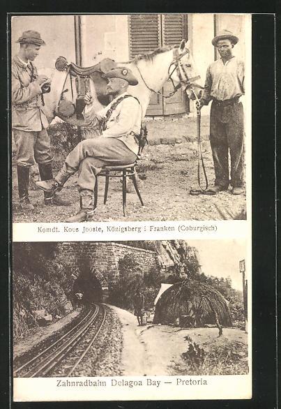 AK Königsberg, Komdt. Jooste, Zahnradbahn Delagoa Bay - Pretoria, Südafrika, Transvaal, Burenkrieg