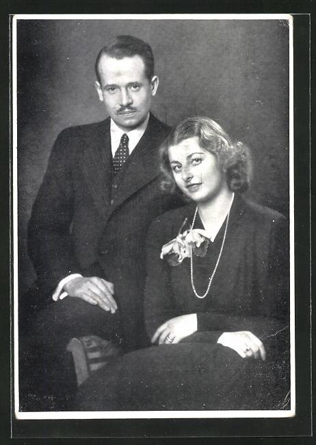 AK Fürst Franz Josef von Liechtenstein mit Gattin