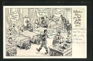 Künstler-AK Ferdinand Barlog: Soldatenleben, ja das heisst lustig sein!