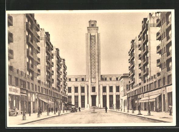 AK Villeurbanne, Nouveau Centre d`Urbanisme, Avenue de l`Hotel-de-Ville, Bauhaus