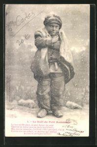 AK Le Noel du Petit Ramoneur, Kleiner Schornsteinfeger friert