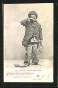 AK Le Noel du Petit Ramoneur, Kleiner Schornsteinfeger weint