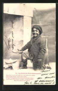 AK Le Noel du Petit Ramoneur, Kleiner Schornsteinfeger freut sich