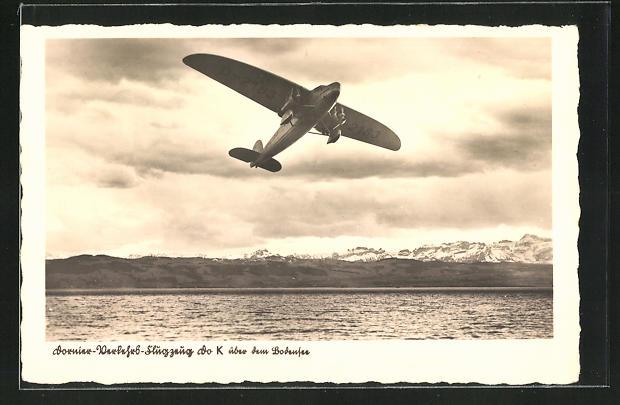 AK Dornier-Verkehrsflugzeug Do K über dem Bodensee