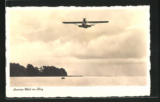 AK Dornier-Wal im Flug, Wasserflugzeug