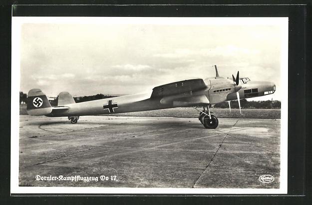 AK Dornier-Kampfflugzeug Do 17, Seitenansicht