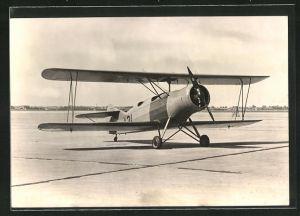AK Flugzeug Fokker S. 9 im Flughafen