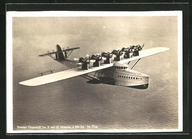 AK Dornier Flugschiff Do X im Flug