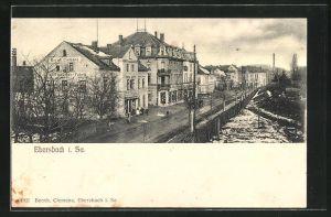 AK Ebersbach i. Sa., Geschäftsbücher-Fabrik Bernhard Clemens, Bahnhofstrasse
