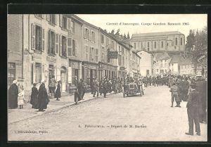 AK Pontaumur, Départ de M. Burton, Circuit d` Auvergne, Coupe Gordon Bennett 1905, Autorennen