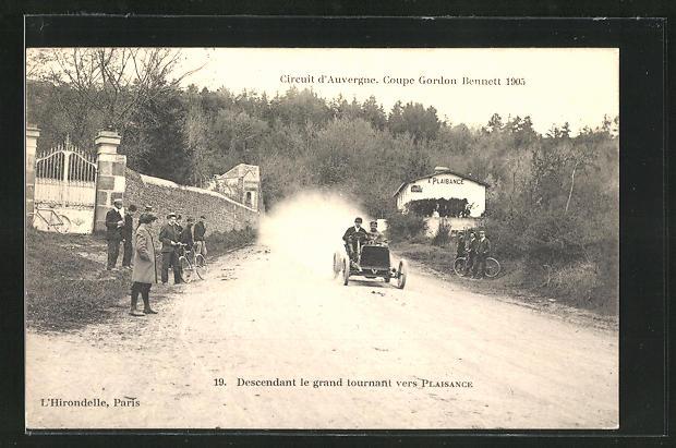 AK Plaisance, Circuit d`Auvergne, Coupe Gordon Bennett 1905, Autorennen