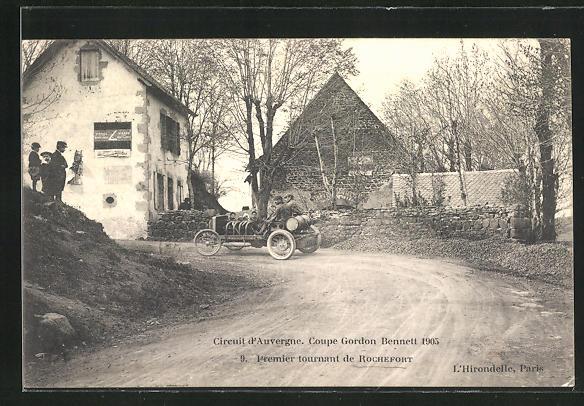 AK Rochefort, Circuit d`Auvergne, Coupe Gordon Bennett 1905, Autorennen
