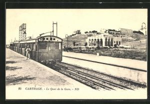 AK Carthage, Le Quai de la Gare, Bahnhof