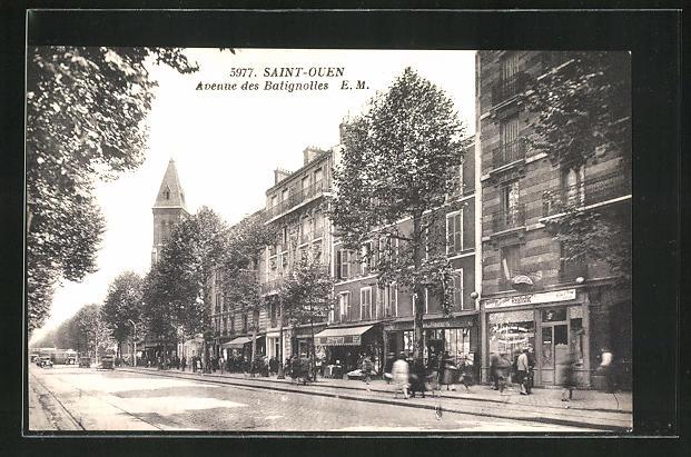 AK Saint-Ouen, Avenue des Batignolles