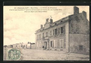 AK Ile d`Aix, La Maison de l`Empereur, C`est ici que Napoleon 1er passa les derniers jours en France